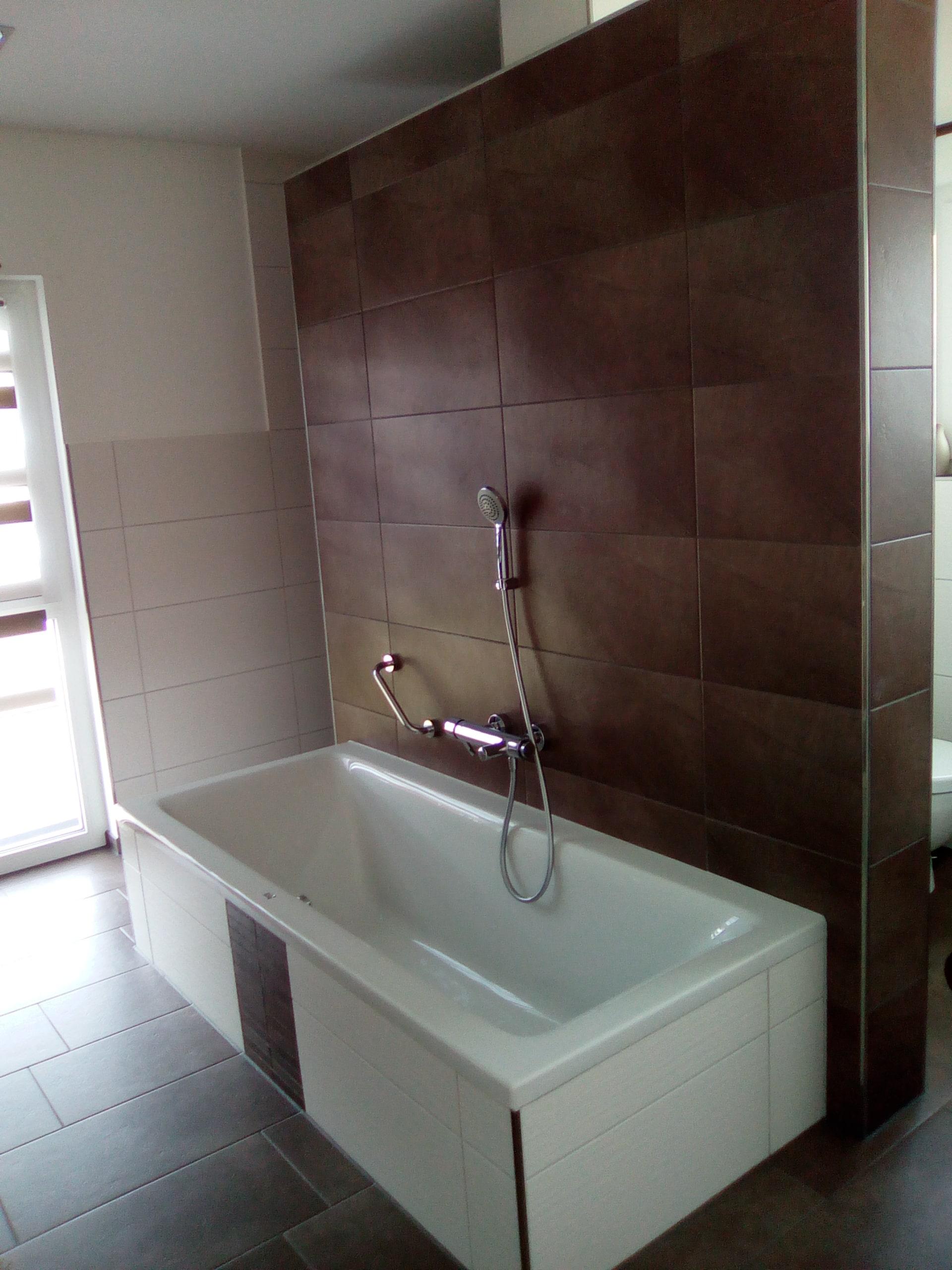 Badsanierung mit neuer Badewanne